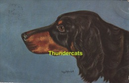 CPA ILLUSTRATEUR CHIEN ** FRANZ KIEFER ** ARTIST SIGNED CARD DOG - Cani