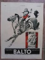 Publicité Ancienne -Cigarettes Balto - 1933 - Werbung