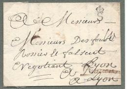 S Couronné De Saumur ( Lenain N°2 ) 1734 Frappe Maximum, Rare à Cette Date - Marcophilie (Lettres)