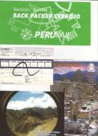 Billet De Train MACHU PICCHU - PERURAIL - PEROU 2005 - Monde