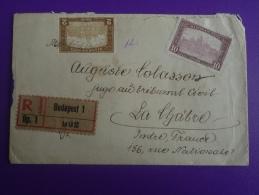 Lettre 1922 Budapest La Châtre, R ,3 Timbres Non Oblitérés.V.photos. - 1921-1960: Période Moderne
