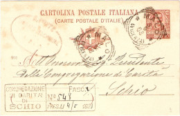 REGNO-TONDO RIQUADRATI PROVINCIA VICENZA CARTOLINA POSTALE MILLESIMO 902 - MALO - Marcophilie