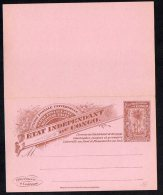 Congo Belge - Entier Postal Double Stibbe N°16 - Palmiers - Ww6 - Stamped Stationery
