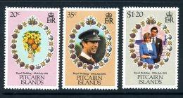 Pitcairn 1981 Royal Wedding Set Of 3, MNH (A) - Stamps