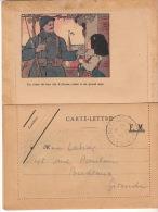 """GUERRE 14 / 18 - Carte Lettre """" Un Verre De Bon Vin D´ Alsace, Versé à Un Grand Ami """" - Cad """" Trésor Et Poste * 211 * - Marcophilie (Lettres)"""