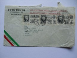 MEXICO 1947 AIR MAIL COVER TO ENGLAND WITH FILATELICA STAMPS - Mexico