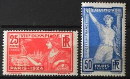 FRANCE 1924 - Jeux Olympiques De Paris - Le N° 184 Et Le N° 186  - 2 TIMBRES  NEUFS** Y&T 125,00€ - Francia