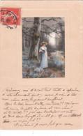 Carte Postale Ancienne Illustrée - Femme - Paysage - Illustratori & Fotografie