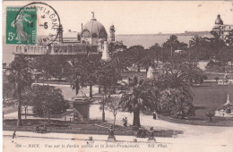 Carte Postale Ancienne De Nice - Vue Sur Le Jardin Public Et La Jetée Promenade - Parcs Et Jardins
