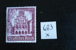 Allemagne III° Reich - Année 1940 - Hôtel De Ville à Munster -Y.T. 683 - Neuf (*) Mint (MLH) Postfrisch (*) - Germany