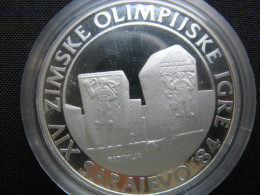 Winter Olyimpics In Sarajevo, 250 Dinara 1983, ( PP- Silber 925-17 G)(Radimlje Tombs) - Yugoslavia