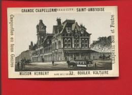 SAINT AMBROISE GRANDE CHAPELLERIE  CHAPEAUX HERBERT  CHROMO KANSAS CITY GARE UNION OMNIBUS - Unclassified