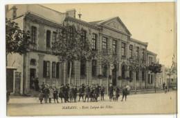 MARANS. - Ecole Laïque De Filles. Belle Animation . Cliché Rare - France