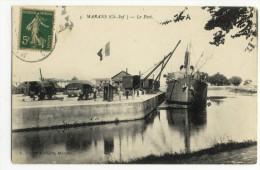 MARANS. - Le Port. Bateau 1er Plan - France