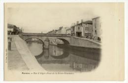 MARANS. - Rue D'Aligre (Pont De La Sèvre-Niortaise). Carte Pionnière - France