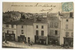 MARANS. - Quai Au Midi. Nombreux Magasins 1er Plan - France