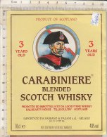 PO4466C# ETICHETTA LIQUORE - CARABINIERE BLENDED SCOTCH WHISKY - MILITARI - SASSANO & PAGANI-MILANO - Whisky