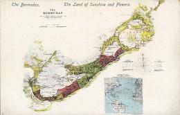 Amérique - Antilles - West Indies - The Bermudas - Carte Géographique - Bermudes