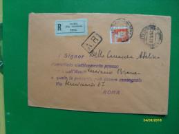 1939 Raccomandata Targhetta E Timbro Postale Roma Palazzo Di Giustizia - Storia Postale