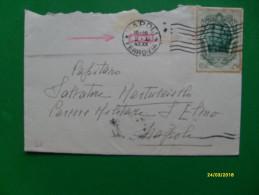 1942 Uso Singolo COMMEMORATIVO  Galileo Galilei Cent.25 Timbro Arrivo Al Verso - 1900-44 Vittorio Emanuele III