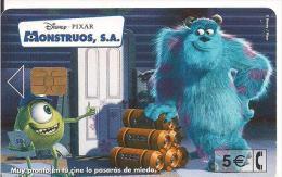 TARJETA DISNEY MONSTRUOS - Disney