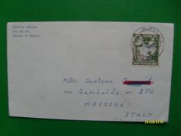 1963 Rhodesia Nyasaland  6 Penny Timbro Arrivo Al Verso - Rhodesia & Nyasaland (1954-1963)