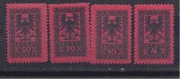 Albania1922: Postage Dues Michel Porto18-21mnh** - Albania