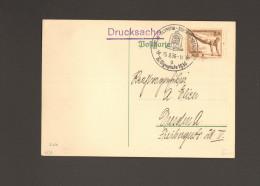 DR Berlin Stempel 1936 XI.Olympiade K.d.F.-Stadt UB A Mit Mi.Nr.609 Blanko 15.8.1936 - Machine Stamps (ATM)