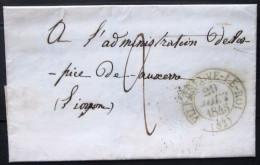 CACHET Type 13  --  VILLENEUVE LE ROI  --  YONNE  --  LSC  --  1845  --  INDICE 6 - Marcophilie (Lettres)