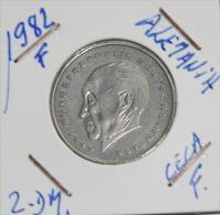 Alemania 2 Mark (20 Años De La  Republica  Federal  Alemana) Año 1982- ( CECA - F - )  MONEDA CIRCULADA - - 2 Mark