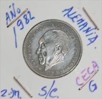 Alemania 2 Mark (20 Años De La  Republica  Federal  Alemana) Año 1982- ( CECA - G - )  MONEDA CIRCULADA - - 2 Mark