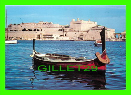 MALTA - THE MALTESE DGHAJSA WITH FORT ST. ANGELO ON THE BACKGROUND - MJ PUBLICATIONS - - Malte