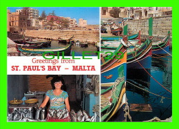 MALTE - MALTA - ST PAUL'S BAY, FISHING HARBOUR - 3 MULTIVUES  - PERFECTA ADVERTISING LTD - - Malte