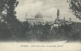 FIRENZE- PANORAMA PRESO DAL GIARDINO  BOBOLI- PRIMI  DEL  900-NUOVA - Firenze (Florence)