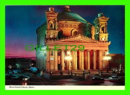 MALTA - MOSTA PARISH CHURCH AT NIGHT - PRINTEX LTD - - Malte