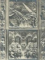 FIRENZE-PARTICOLARE  DELLA  PORTA  DEL BATTISTERO-REGINA  DI  SABA- EBREZZA DI NOE' -2 CART . NUOVE PRIMI 900 - Sculture