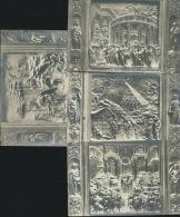 FIRENZE-PARTICOLARE  DELLA  PORTA  DEL BATTISTERO -4 CART . NUOVE PRIMI 900 - Sculture