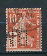 Perforé (1914)  : Semeuse, N° 147 (YT), 10 C. + 5 C., Au Profit De La Croix-Rouge - Francia