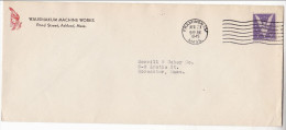 1945 WAUSHAKUM  Framingham ADVERT COVER Illus NATIVE AMERICAN INDIAN Mass USA Stamps United States - American Indians