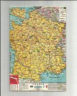 Tres Belle Carte Routière En Carton Des Distances De 48 Villes De 4 Pages Avec Curseur - Roadmaps