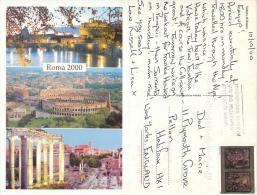 Vatican City Postcard Posted 2000 Stamp - Vatican