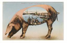 MARSEILLE  /  LE  PORT  ! ! !  DE  MARSEILLE  ( Pont Transbordeur, Porc = Cochon Rose ) /  Edit.  LEVY  &  NEURDEIN - Varkens