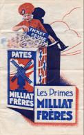 -  Très Belle Publicité Pour Les PATES MILLIAT FRERES - 547 - Advertising