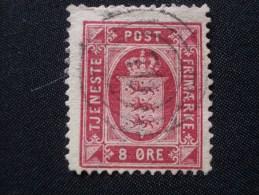 "DANEMARK  Service  ( O )  De  1875 / 1902    ""   Armoiries - Valeur  En  ORE   ""      N° S  8       1 Val . - Service"