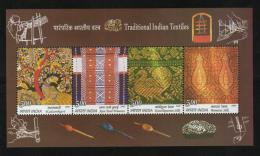 2009  Traditional Indian Textiles  4v  Sovenir Sheet # 62564  Inde  Indien - Textile