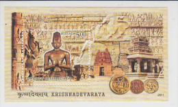 India 2011  Krishnadevaraya  (Vijaynagar Empire)   Miniature Sheet # 62499  Inde  Indien - Blocks & Sheetlets