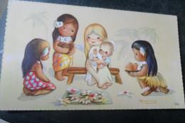 Amparo Illustratrice Oceanie 1960 Virgin Jesus - Xmas