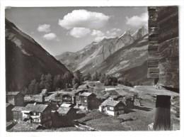 """CPSM SAAS FEE (Suisse-Valais) - Bergdorfchen """"Zum See"""" 1750 M Mit Mischabelgruppe - VS Valais"""