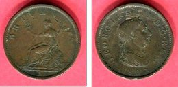 GEORGE III 1 PENNY 1807 KM 663 TB 7 - 1662-1816 : Anciennes Frappes Fin XVII° - Début XIX° S.