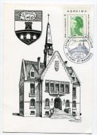 OISE De PONT SAINTE MAXENCE Cachet Temporaire Sur CP Du 2/10/1983 - Marcophilie (Lettres)